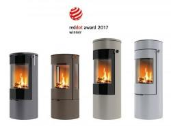 Recognition from Red Dot for design of Danish wood-burning stove concept:  The customer decides the colour, height and a number of other details…